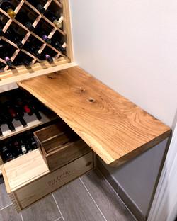 Oak Live Edge Shelf