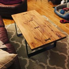 Knotty Alder Split Top Coffee Table
