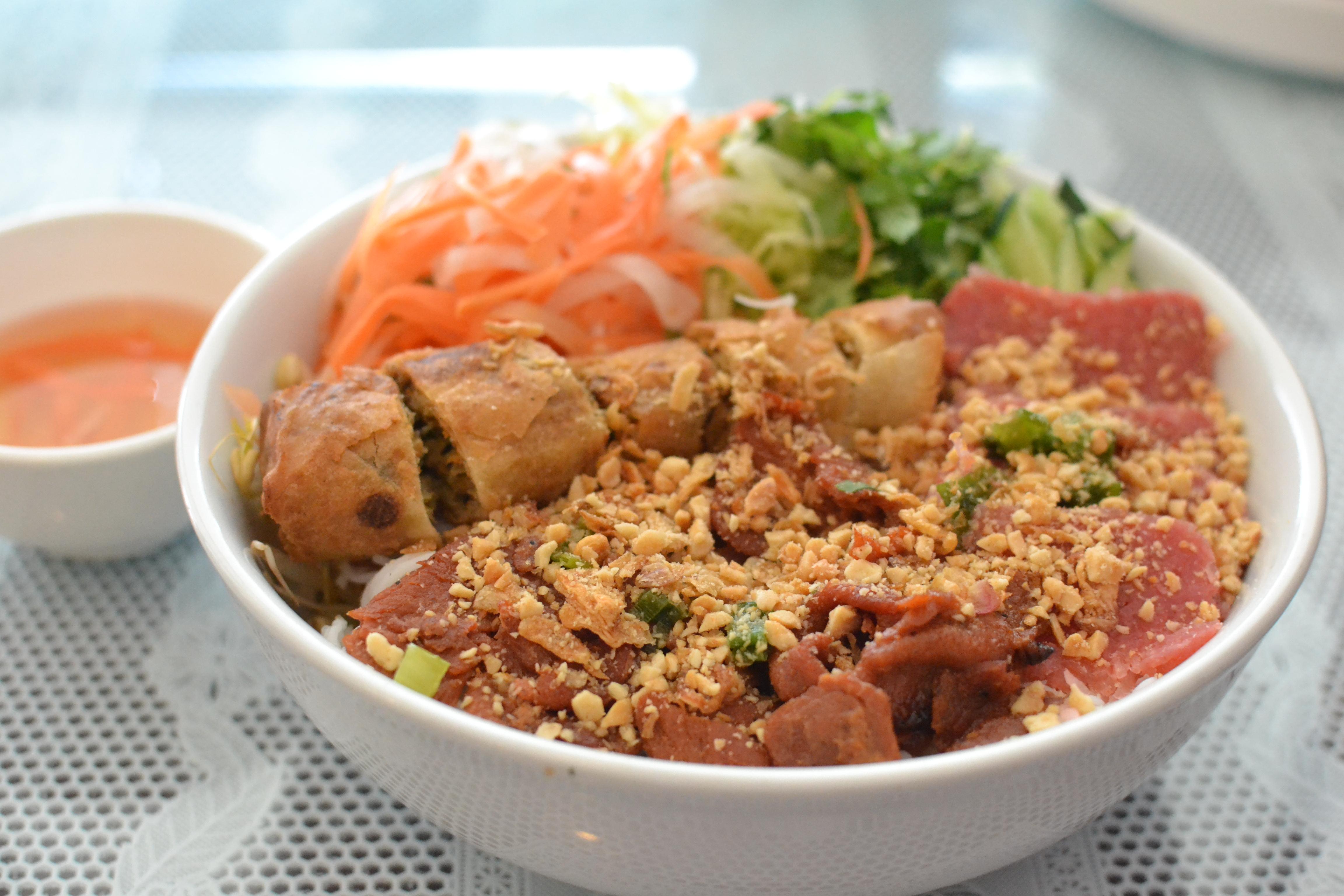 59.) Bun Thit Nuong Cha Gio Nem Chua