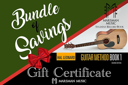 Guitar & Lessons Package