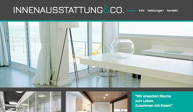 Design website templates – Innenausstattung & Co