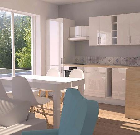 cuisine, renovation, architecture d'interieur, projet, Lille, appartement