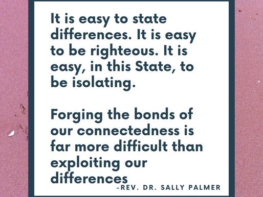 LOVING BEYOND - A Meditation - Rev. Dr. Sally Palmer