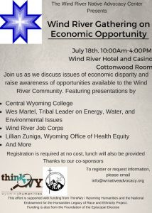 Wind River Gathering on Economic Opportunity