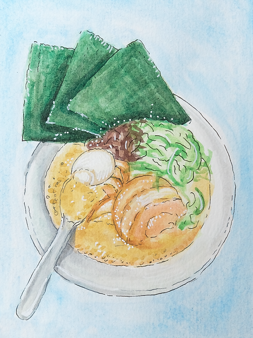 Ramen Print - Japan Watercolor Series