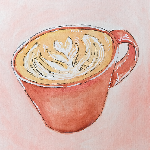 Coffee in Nara Print - Japan Watercolor Series