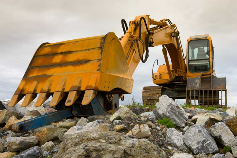 Hydraulic mining excavators