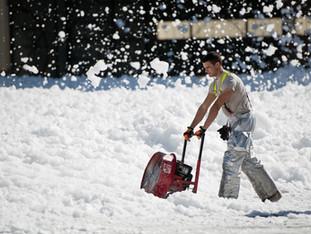 Snow Pushers, No Shovels