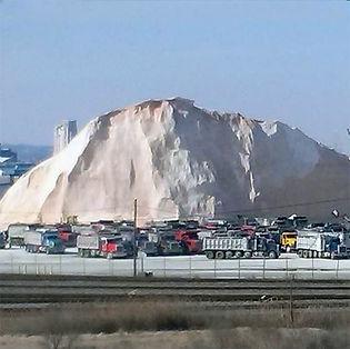 Salt Mound Outside Of Shaumburg
