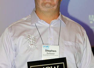STEPHEN SUMMER OF ABOUT TIME SNOW RECEIVES INDUSTRY LEADER AWARD