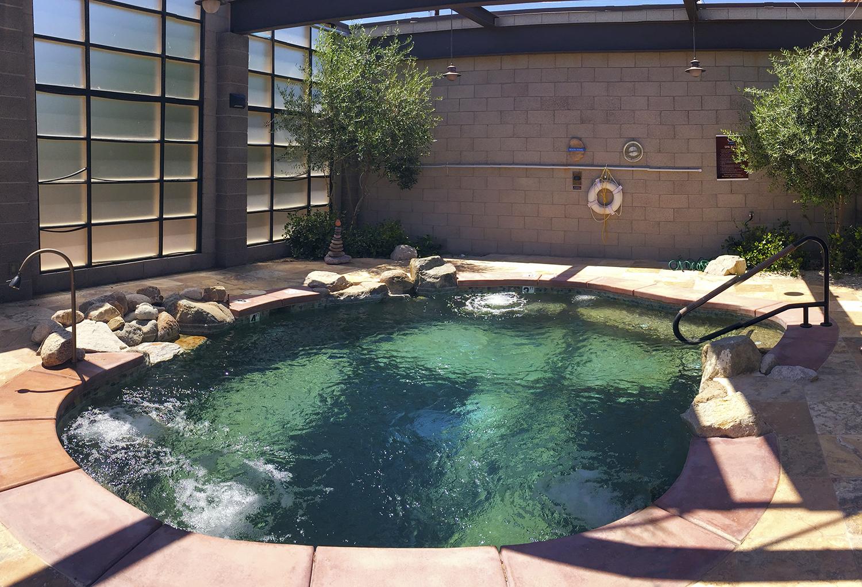 Copper-Ionized Heated Watsu Pool