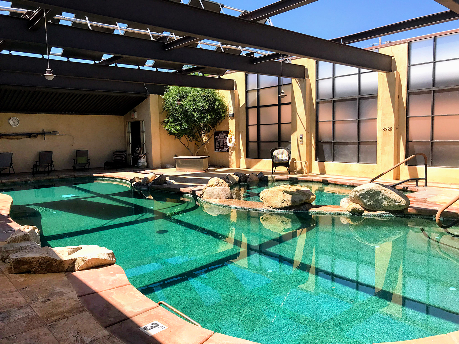 Copper-Ionized Heated Lap Pool