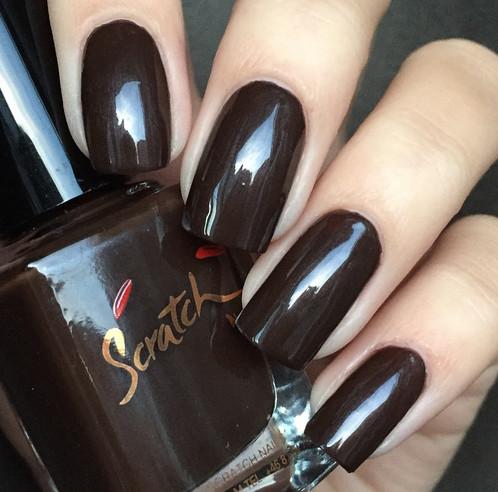 Coffee Color Nail Polish On Nails