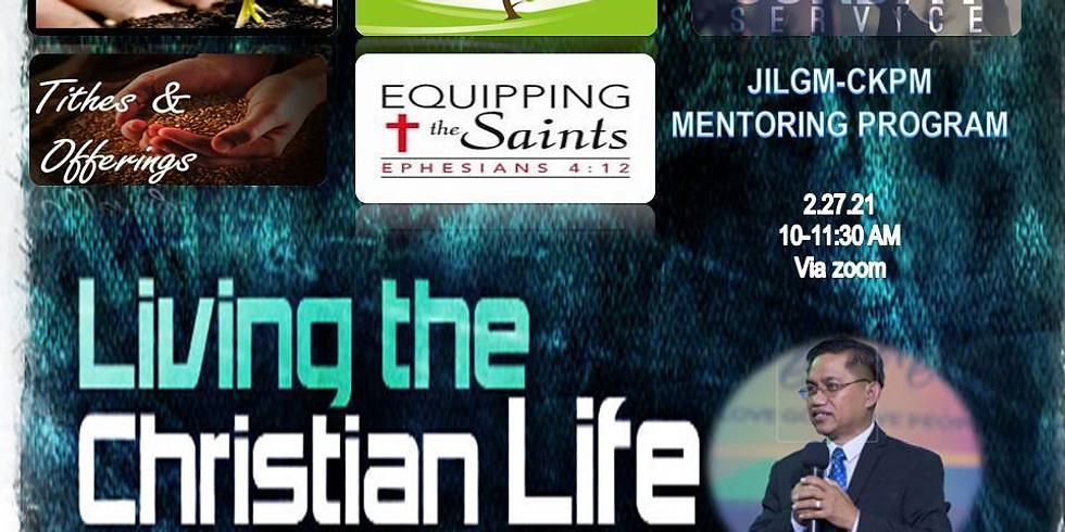 Mentoring on living the Christian life