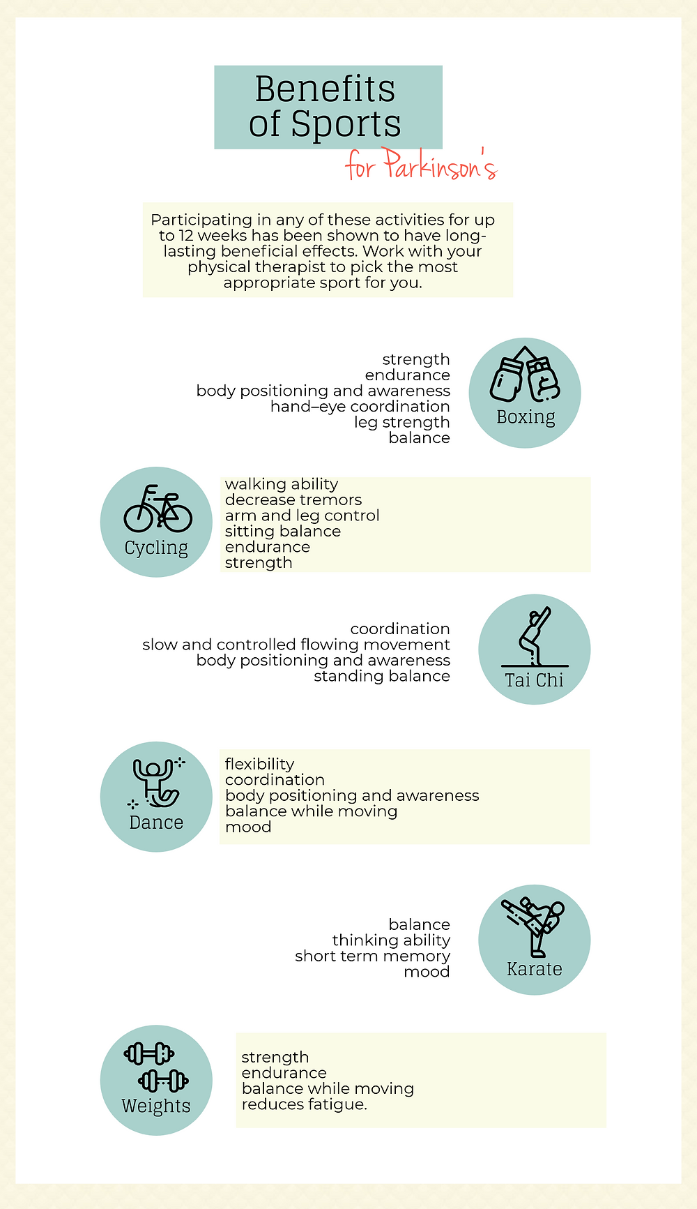 Benefits of Sports for Parkinson's