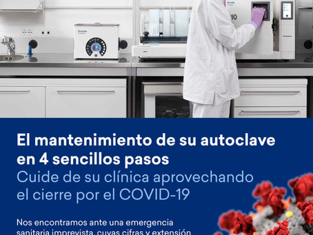 MANTENIMIENTO DE SU AUTOCLAVE EURONDA DURANTE UN PERIODO DE INACTIVIDAD