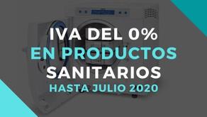 Los productos sanitarios tendrán un IVA del 0 % hasta julio