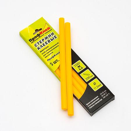 желтые клеевые стержни 11 мм