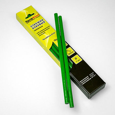 зеленые клеевые стержни 7 мм