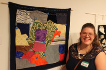 Mariah and her fabric piece