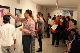 Participants and guests mingle