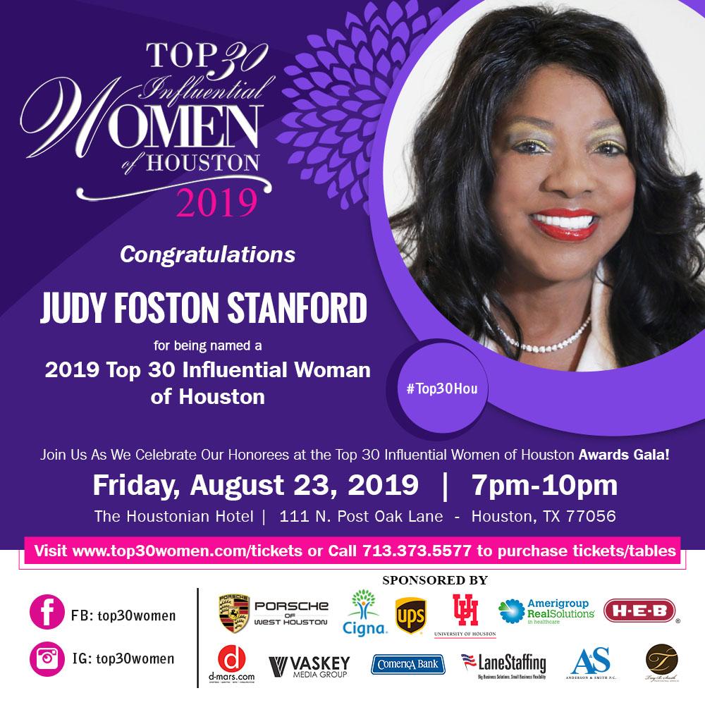 Top 30 Women_2019 Judy Foston Stanford (