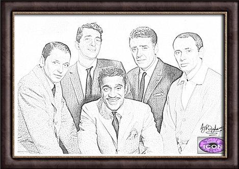 The Rat Pack - Sinatra, Martin, Davis Jr, Bishop and Lawford