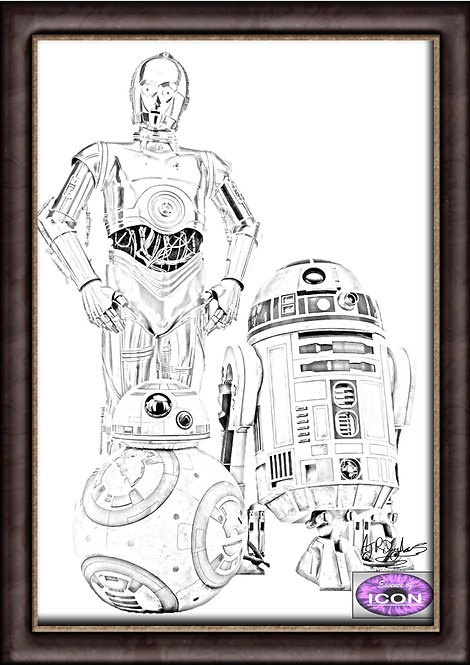 C-3PO, BB-8 and R2-D2 (Star Wars)