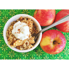 Officially Fall!!! Apple Crisp for One, Please