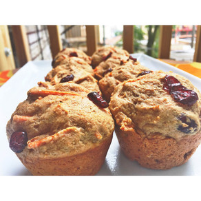 Spiced Carrot Cranberry Muffins
