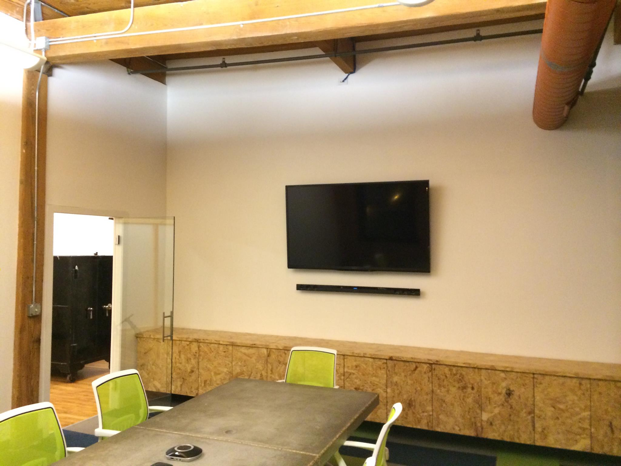 TV+Sound Bar Installation