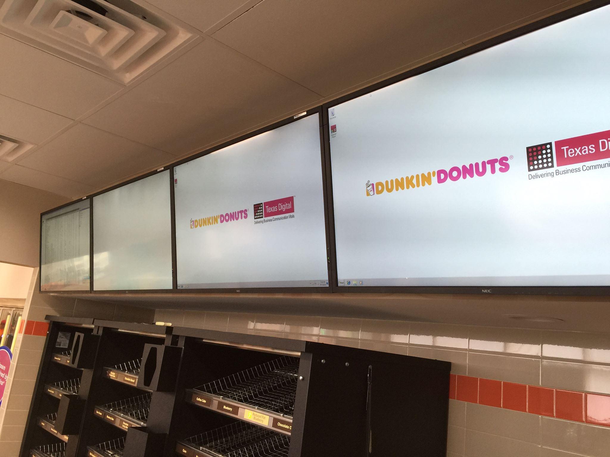 Dunkin Donuts Menu Board