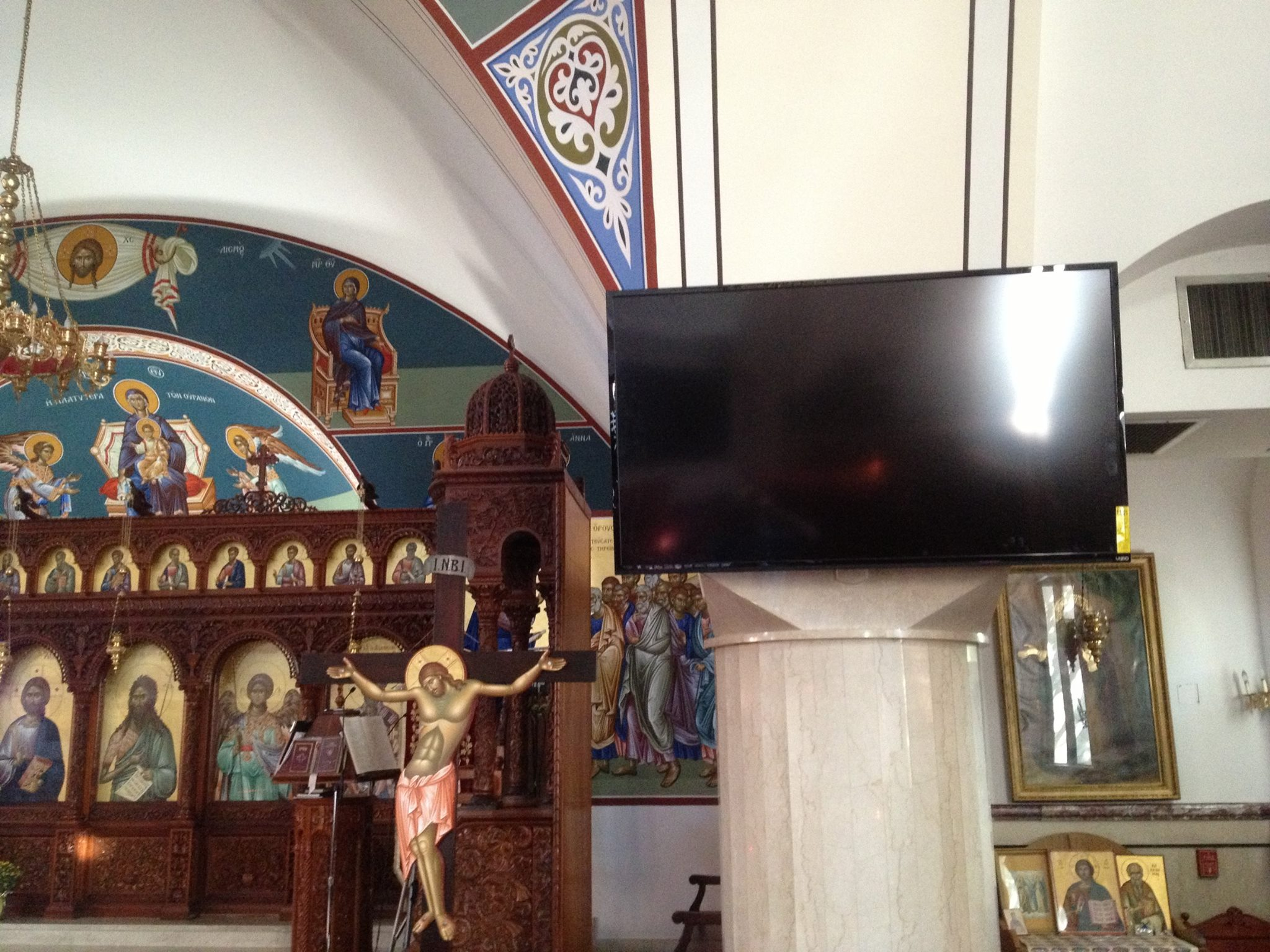TV Installation at Church