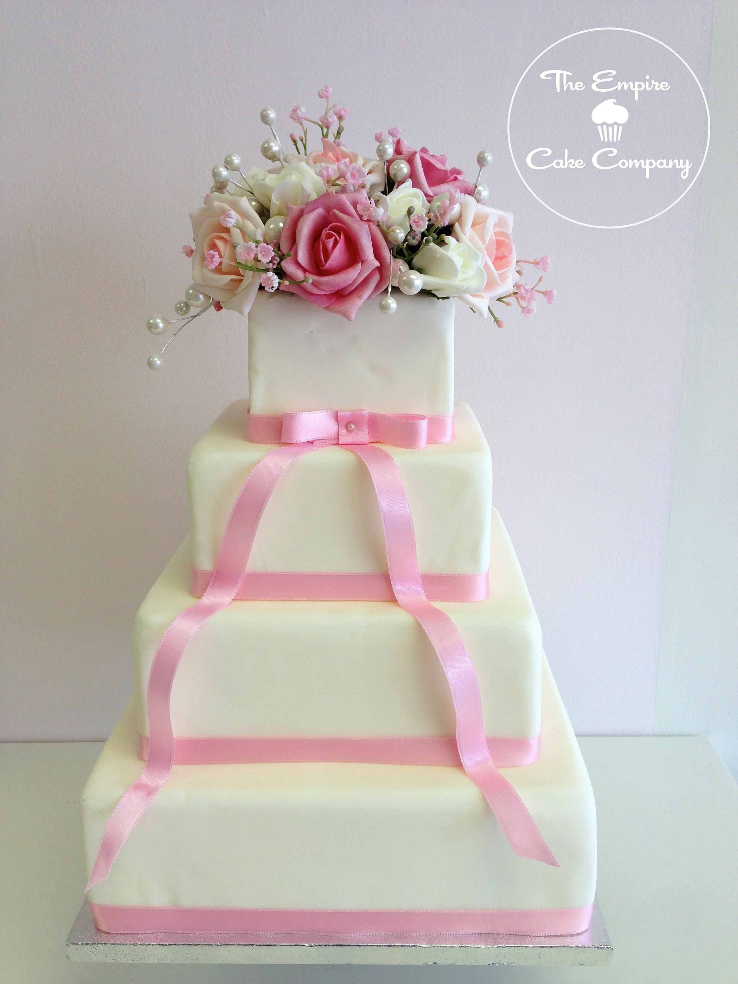 W Tier Wedding Cake