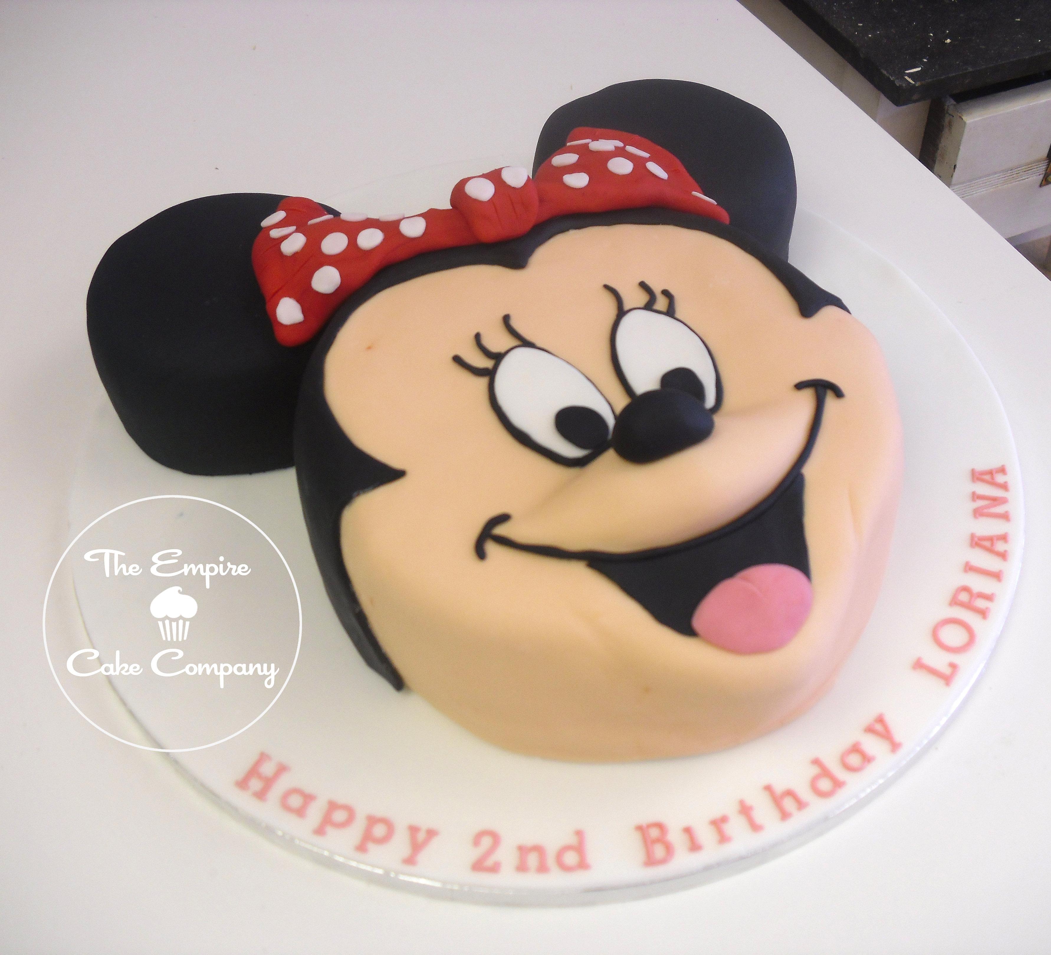 Minnie Mouse Box Cake