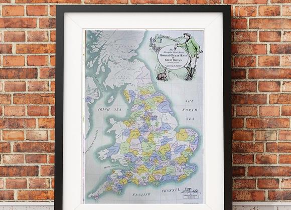 "Carte ""Harriers & Beagles Hunt"""