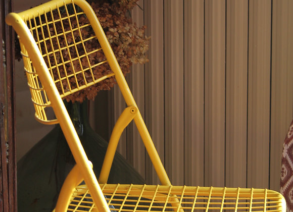 "Chaise ""Ted Net"" jaune"