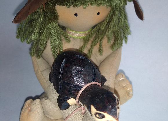 Kyringue menino tartaruga verde