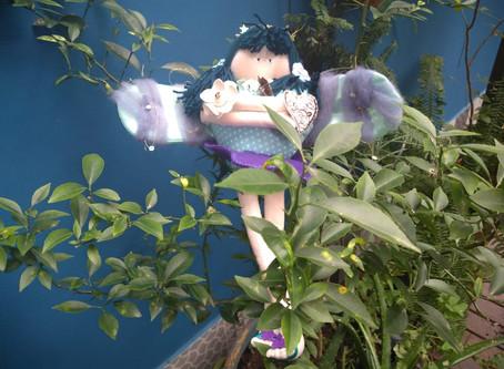 Fada Azul da Cura 5D (Água, Flor e Amor) - TIHU Bonecas de Pano