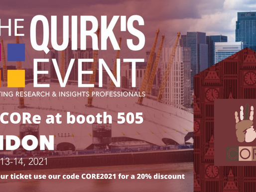 Meet CORe at Quirks London 2021