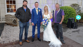 You never know who's going to turn up on your wedding day.