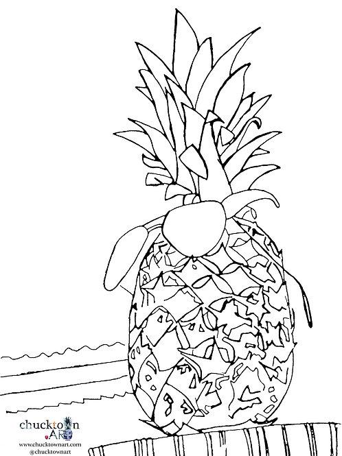 Mr. Pineapple Coloring Sheet