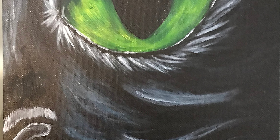 Black Cat - Halloween Acrylic Paint Class