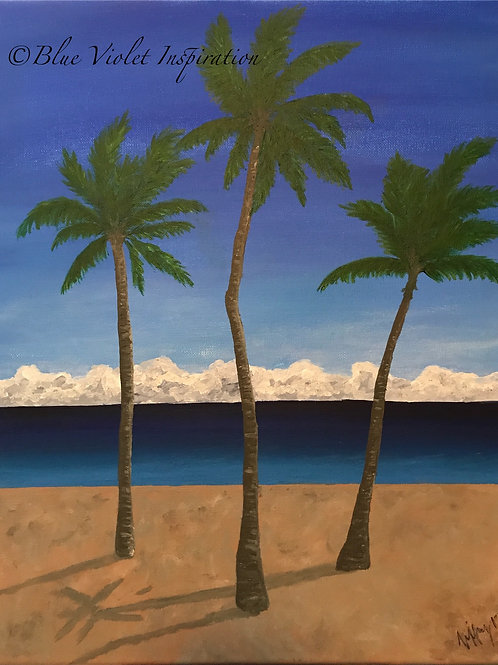 """Palms in Florida 16"""" x 20"""""""