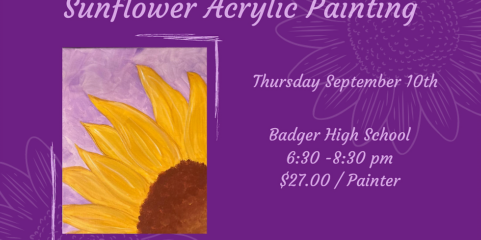 Sunflower Painting - Badger High