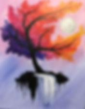 Autumn Tree w_ Waterfall Moon Level 1