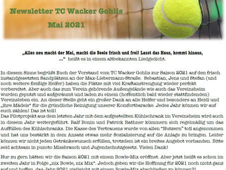 Newsletter TC Wacker Gohlis - Mai 2021