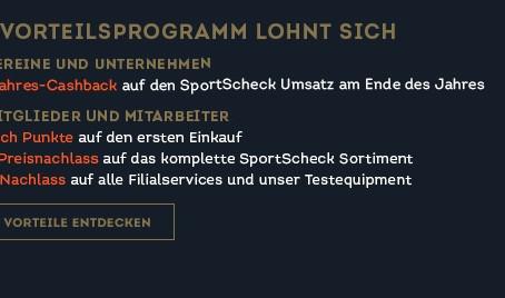 Teilnahme am SportScheck Vorteilsprogramm