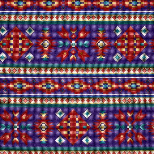 Purple Beaded Stripe - Elizabeth Studio
