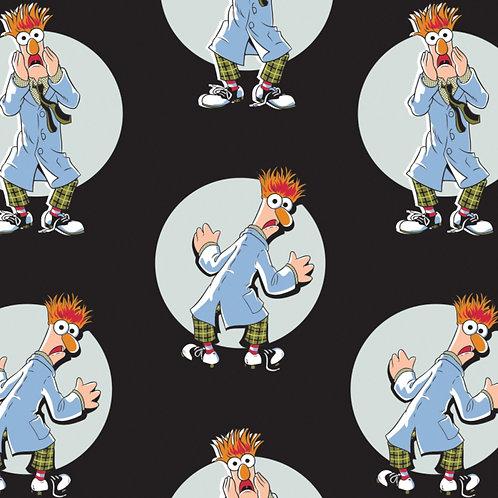 Black Disney The Muppets Beaker - Camelot Fabrics